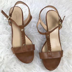 Liz Claiborne Brown Cork Wedge Sandal US 9
